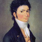 Carl Traugott Riedel, Porträt Ludwig van Beethovens, 1801 (Quelle: Wikimedia Commons)