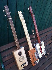 Cigar Box Guitars, Quelle: Giuseppe Giaquinto-BluesTones