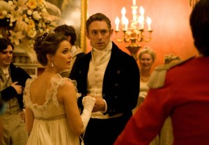 "Keri Russell (""Jane Hayes"") und JJ Feild (""Mr. Henry Nobley"") in  AUSTENLAND.  © 2013 Sony Pictures Releasing GmbH"