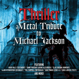 """Thriller - A Metal Tribute To Michael Jackson"" Cover Artwork"