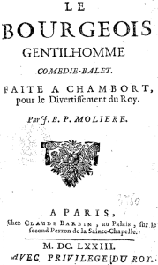 "Originaldruck der Comédie-ballet ""Bürgers als Edelmann"" (1673, Bibliot´hèque nationale de France)"